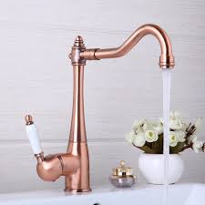 popular polished copper kitchen faucets buy cheap polished copper kitchen faucets swivel antique copper deck mounted mixer tap bathroom faucet basin mixer hot cold tap