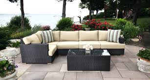 Patio Sectional Furniture Clearance Patio Ideas Salina Sectional With Extender Outdoor Sectional
