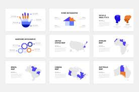 United States Map Powerpoint Template by Burte Powerpoint Template By Dublin Design Thehungryjpeg Com