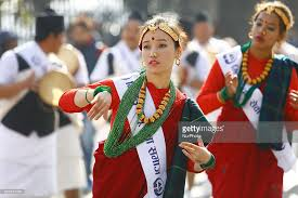 new year attire new year parade in nepal photos and images getty images
