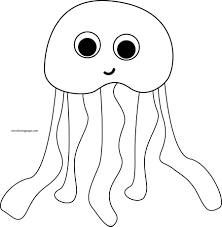 high quality free printable jellyfish fish coloring pages for kids