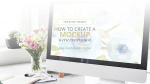 how to create a mockup with photoshop and stock photos youtube
