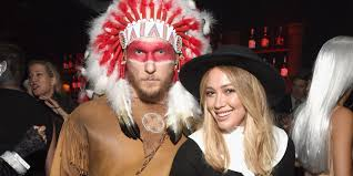 steven tyler halloween mask hilary duff and her new boyfriend offended everyone with their