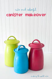 colored kitchen canisters bright and colorful canister makeover