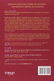 kendall u0027s advanced theory of statistics distribution theory 1