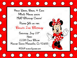 Minnie Invitation Card 10 Red Minnie Mouse Invitations With Envelopes Free Return
