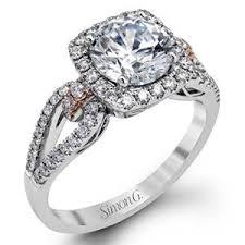 simon g engagement rings simon g split shank 18k white gold engagement ring mr1828