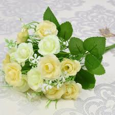 aliexpress com buy 2 pcs lot rose wedding bouquets flowers with