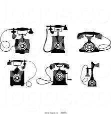 Desk Telephones Royalty Free Clip Art Vector Logos Of Black And White Desk