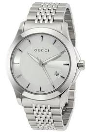mens stainless steel bracelet watches images Gucci men 39 s ya126401 quot g timeless quot stainless steel bracelet watch jpg