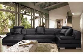 canapé simili cuir noir canapé d angle en simili cuir 8 places napoli noir mobilier privé