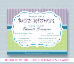 invitation templates free word baby shower template word mughals