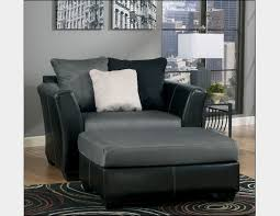 leather chair and a half with ottoman comfortable black and gray leather chair and a half with ottoman of