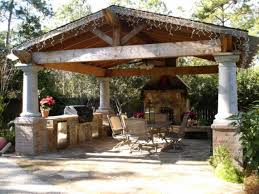 Backyard Pavilion Plans Ideas Backyard Pavilion With Fireplace Home Outdoor Decoration