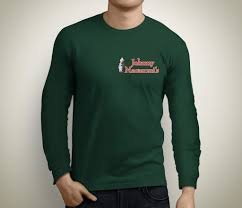 Deep Forest Green Johnny Macaroni U0027s Long Sleeve T Shirt Deep Forest Green Johnny