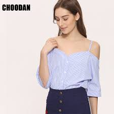 shoulder blouse shoulder blouse shirt women summer new fashion korean style
