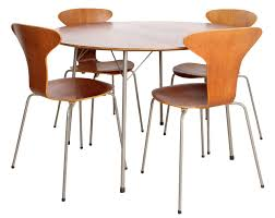 dining set in teak by arne jacobsen from the 50s manufacturer