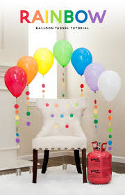 How To Decorate Birthday Party At Home by Best 25 Rainbow Balloons Ideas On Pinterest Rainbow Birthday
