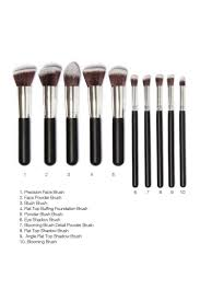 10 piece makeup brush set beauty from dollywood boutique uk