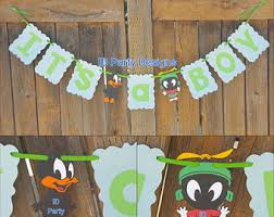 baby looney tunes baby shower decorations looney tunes etsy