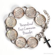 communion bible personalized communion bible verse charm bracelet