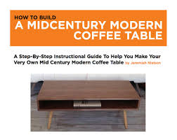 coffee table building plans woodworking plans furniture plans mid century coffee table