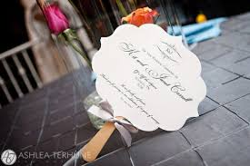 fan style wedding programs wedding ideas