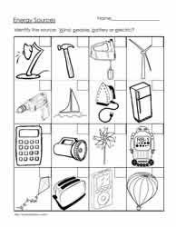 forms of energy heat light sound grade 1 worksheets heat