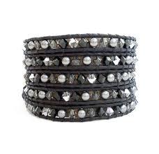 black leather crystal bracelet images Women 39 s bracelets onsra designer bracelets jpg