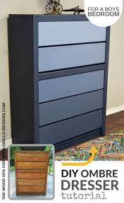 diy dresser diy blue ombre dresser tutorial for a boys bedroom