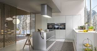 kitchen island hood appliances modern kitchen with great nature view with handleless