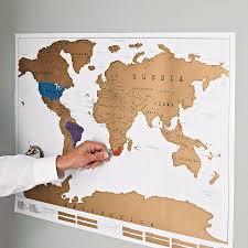 Cork World Map by Scratch Off U0027push Pin U0027 World Map Bundle Gift Wanderlust And