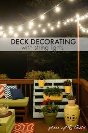 hang string lights on your deck an easy way