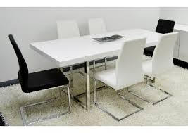 Contemporary White Dining Room Sets - enzo white lacquer modern rectangular dining table