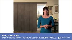 how to measure for bali outside mount vertical blinds and sliding