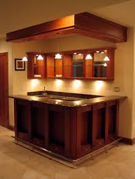 Building A Basement Bar by Love The Look Of The Drop Lights And Cabinets Behind I Think I
