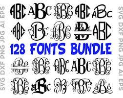 monogrammed fonts monogram fonts etsy