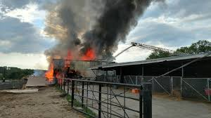 horse breeders left with no hay following barn fire
