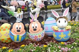 minnie mouse easter egg rabbit mickey easter attractions in disneyland matcha japan