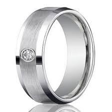 satin finish ring men s 4mm palladium wedding ring with diamond satin finish