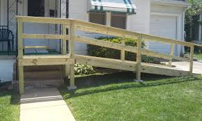 small front porch with wheelchair assess wooden porch steps