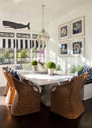 nook house breakfast nook with wicker chair and nautical decor making a