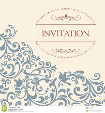 vintage greeting card invitation with floral ornaments stock