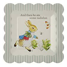 rabbit party supplies rabbit party paper plates beatrix potter bunny easter 1st
