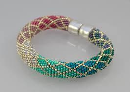 crochet bracelet with beads images Bead crochet with single stitch ombre bracelet kit bead crochet jpg