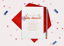 baby shower invitations 101 red stamp