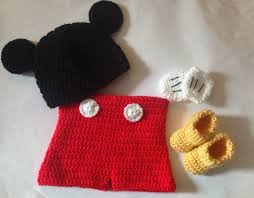 Mickey Mouse Toddler Costume Crochet Mickey Mouse Set In Pdf Pattern Mickey Mouse