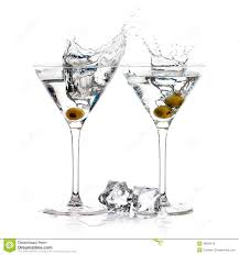 cocktail splash a toast with dry martini cocktail splash stock photo image