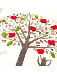 fathers day card and child at apple tree by papyrus digs n gifts