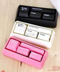 stationery set best keyboard stationery set card punch stapler keyboard brush